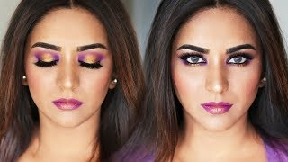 GOLD & VIOLET GLAM | SPRING MAKEUP TUTORIAL 2018