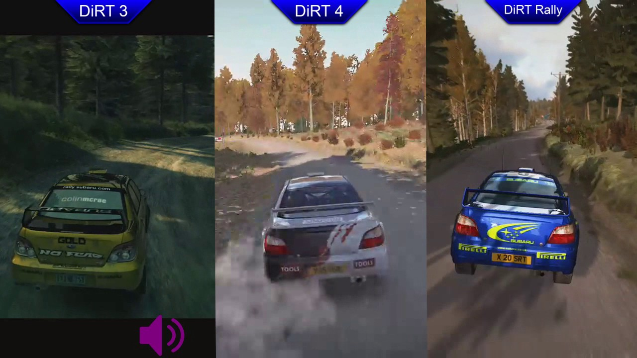 dirt 3 vs dirt 4 vs dirt rally subaru impreza comparison youtube. Black Bedroom Furniture Sets. Home Design Ideas