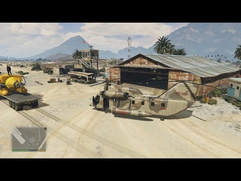 GTA 5 - Let's Flya a US Military Chinook Helicopter To Ship Mini Submarine