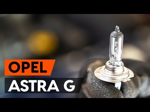 Как заменить лампочку главной фары OPEL ASTRA G CC (F48, F08) [ВИДЕОУРОК AUTODOC]