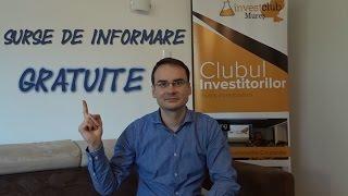 Surse de informare gratuite pentru investitorii la bursa