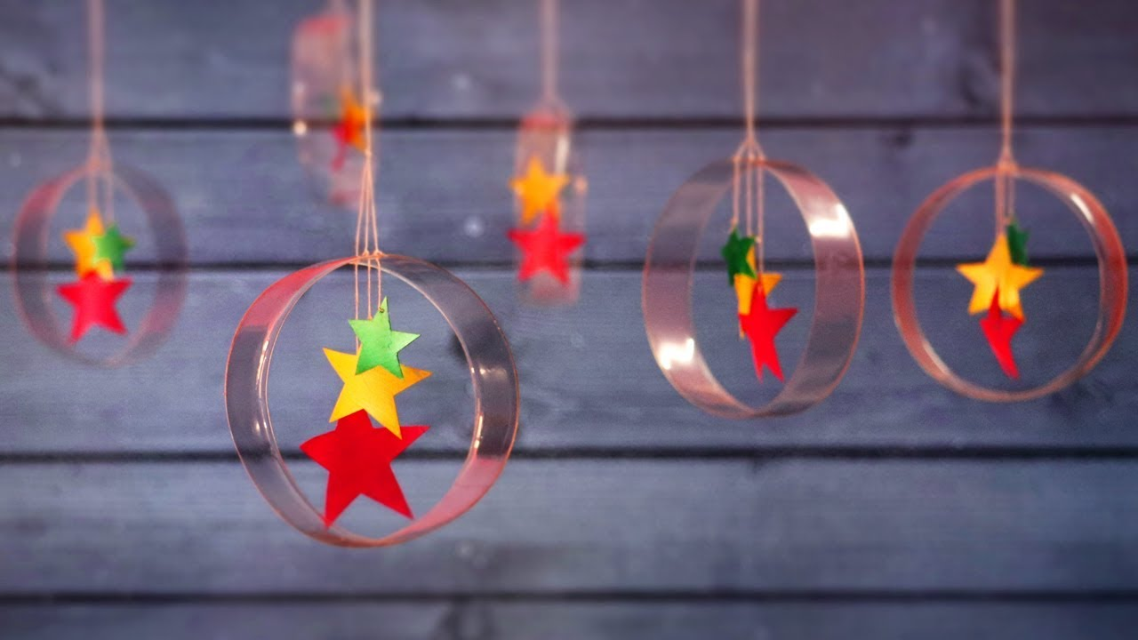 Diy christmas decorations from plastic bottle little for Plastic bottles decoration pieces