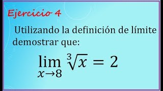 Demostración de límite por definicón (Ejercicio 4)