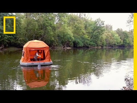 This Tent-Raft Mashup Lets You Drift Off to Sleep on the Wav