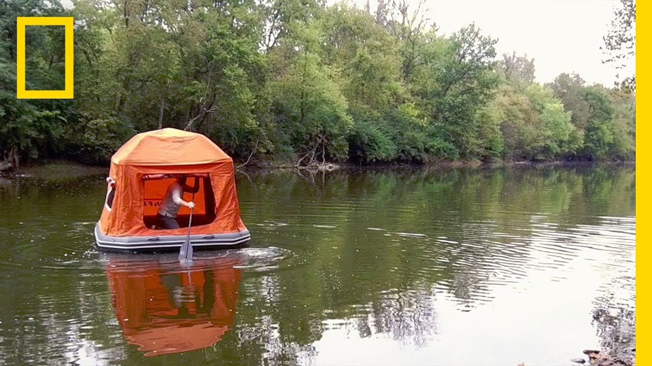 This Tent Raft Mashup Lets You Drift Off To Sleep On The