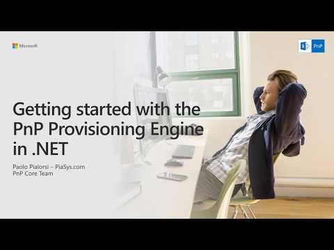 Getting started with the PnP Provisioning Engine in .NET