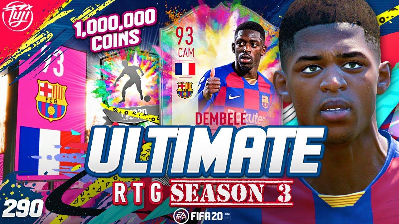 WORTH 1MIL?!? SUMMER HEAT 93 DEMBELE!!! ULTIMATE RTG #290 - FIFA 20 Ultimate Team Road to Glory