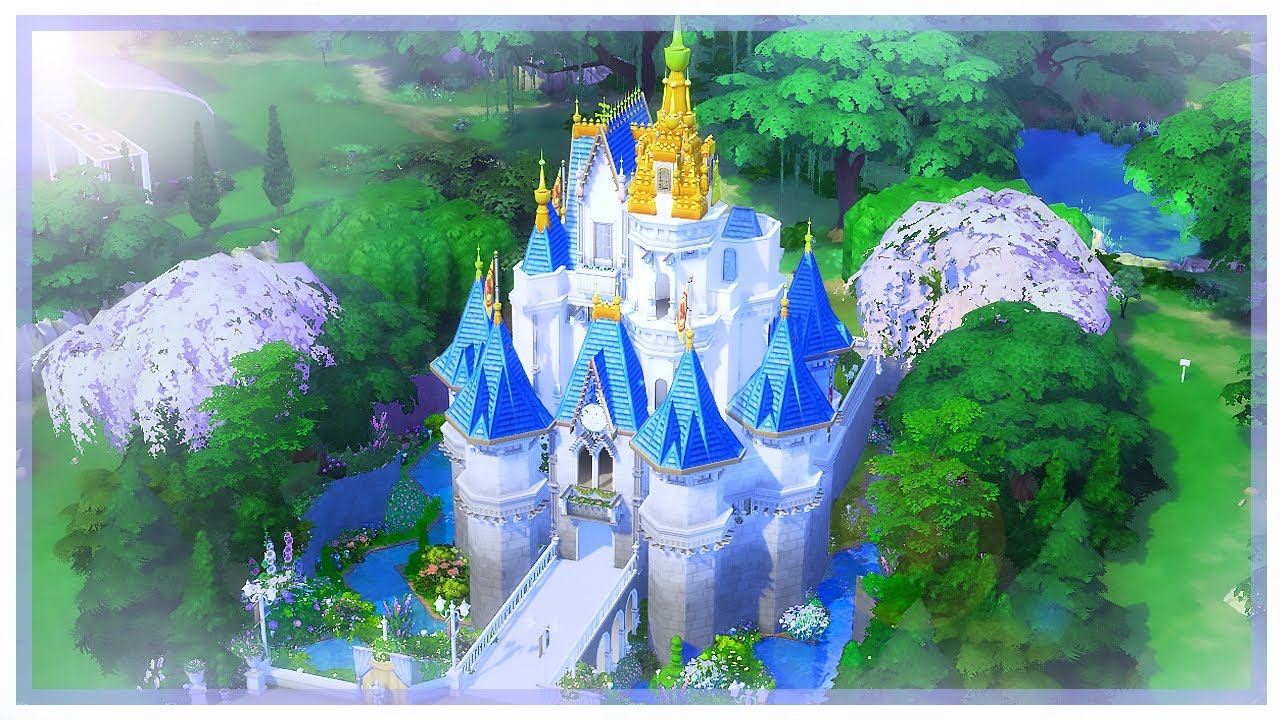 Building Cinderella S Castle L The Sims 4 Part 2 Youtube