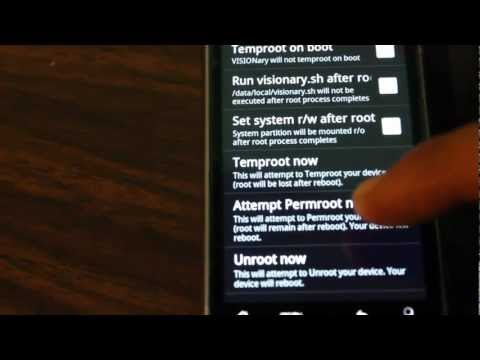 Fastest Guide to Perm Root HTC G2 using Visionary+