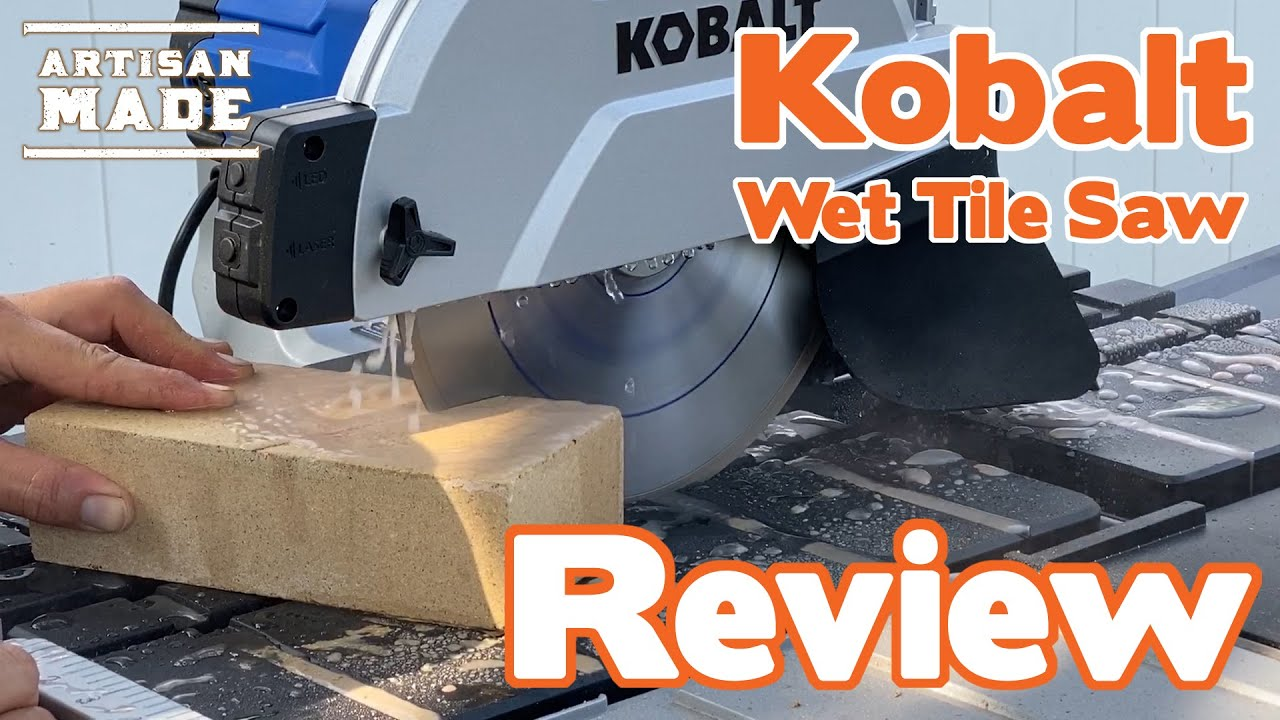 kobalt wet tile saw review tool review