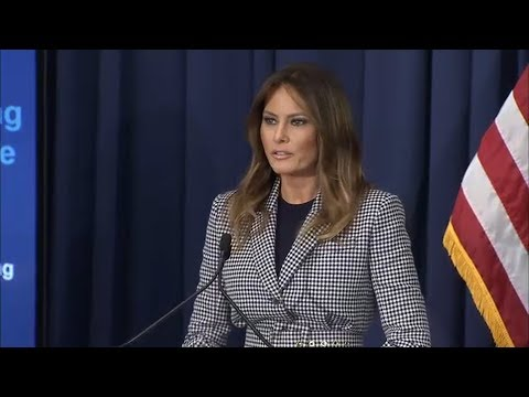 Melania Trump speaks at hospital in Philadelphia