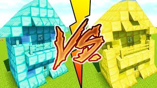 DIAMOND HOUSE VS GOLD HOUSE MINECRAFT
