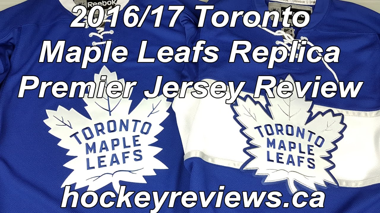 dbb10c6278a Toronto Maple Leafs 2016 17 Reebok Premier Replica Home   Centennial  Classic Jersey Review. Hockey Reviews