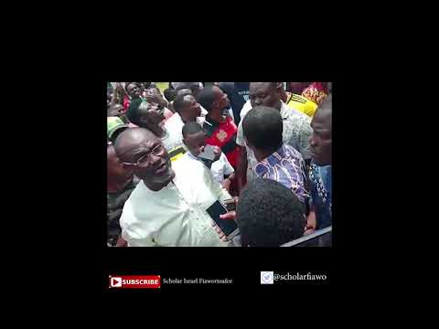 Dignitaries visits the UEW campus in reaction to the demonstration