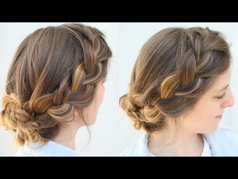 Simple French Braid Updo Work Hairstyles