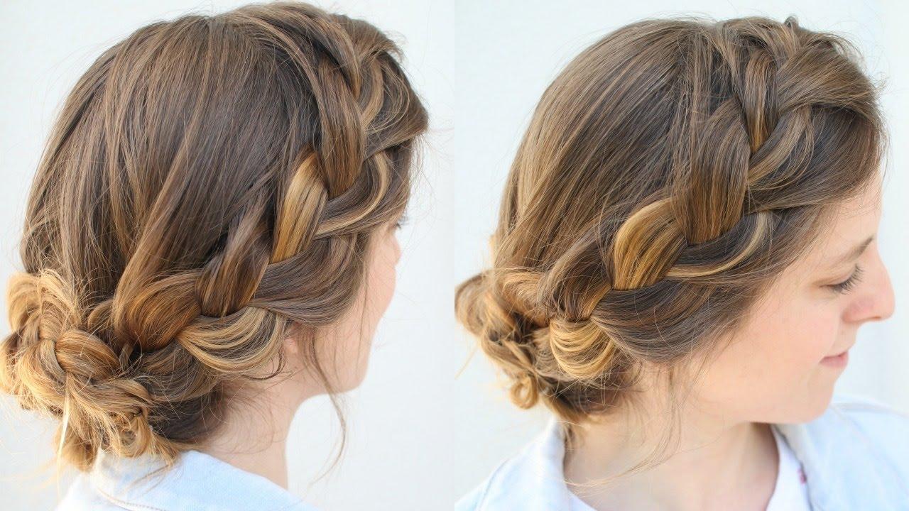 Simple French Braid Updo   Work Hairstyles   Braidsandstyles12 - YouTube