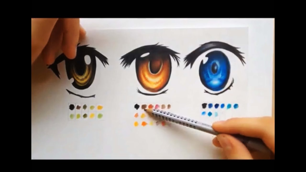 How To Color Using Colored Pencils Manga Eyes Youtube