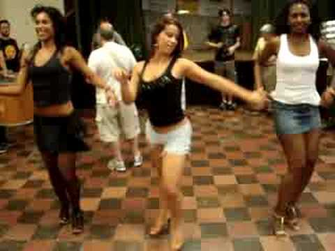 Brazil Productions dancers and Philasamba rehearsal