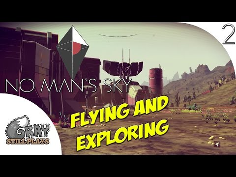 No Man's Sky 1.03 | Ship is Repaired! Flying Around Exploring Outposts | Part 2 | PS4 Gameplay