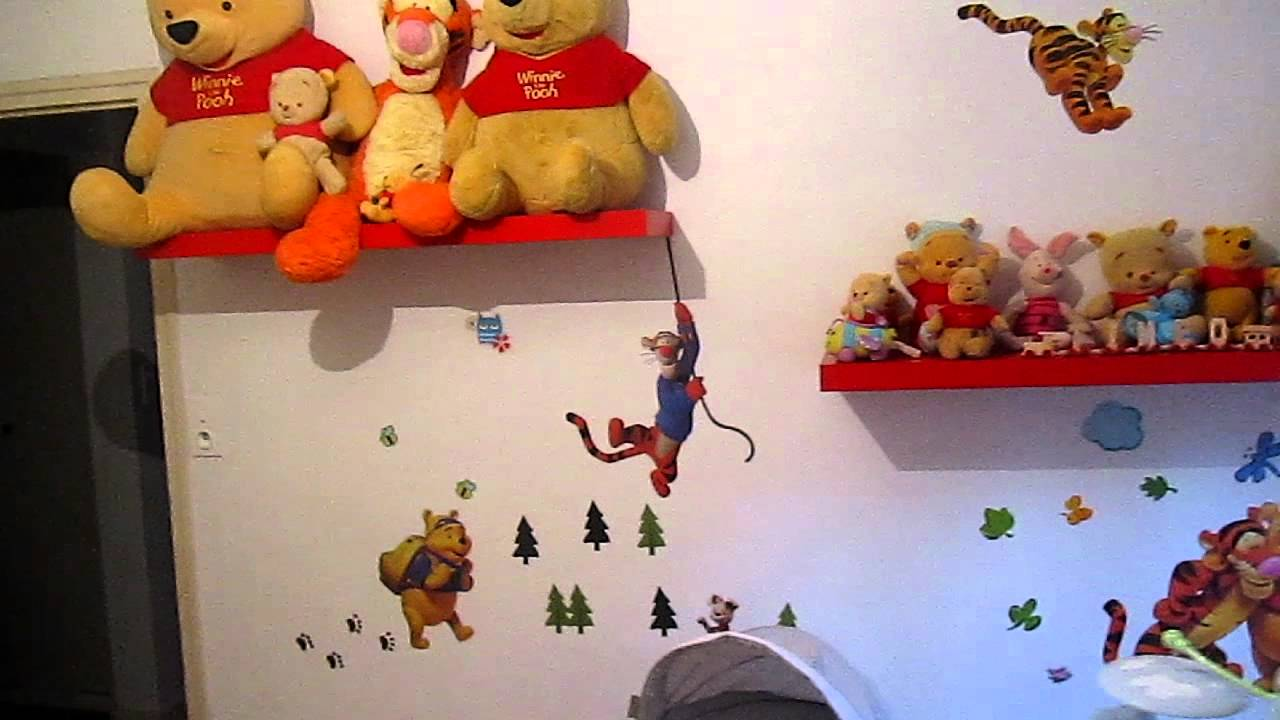 déco winnie l\'ourson chambre bébé - YouTube