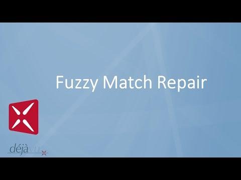 Déjà Vu X2 - Fuzzy Match Repair
