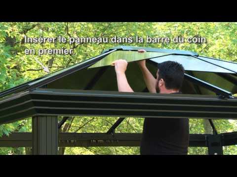 Abris soleil panneaux de toit youtube for Abri soleil mural toit rigide