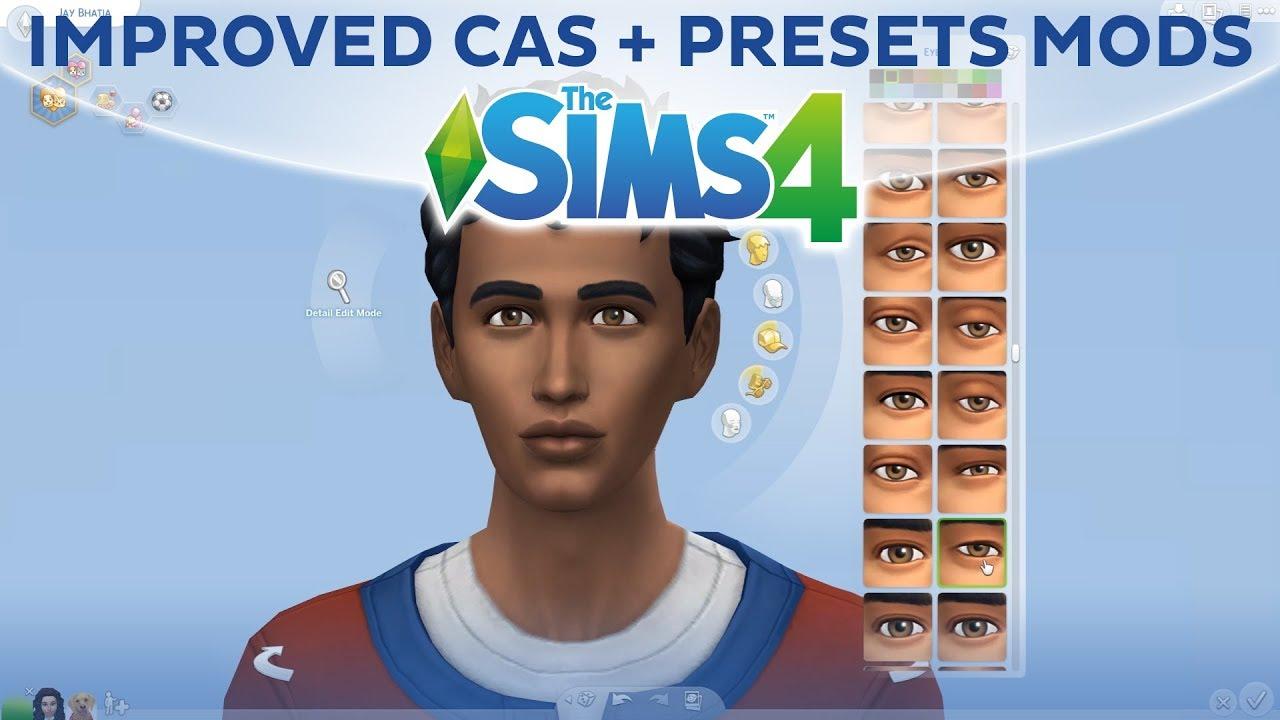 Tarjouskoodi yksityiskohtaiset kuvat ammattimainen myynti IMPROVED CAS + PRESETS MODS / The Sims 4