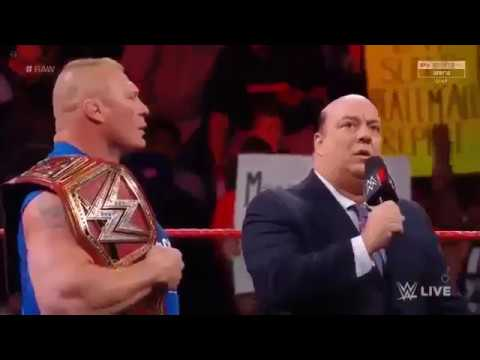 Brock Lesnar destroys The Miz Bo Dallas and Curtis Axel WWE RAW 7 August 2017