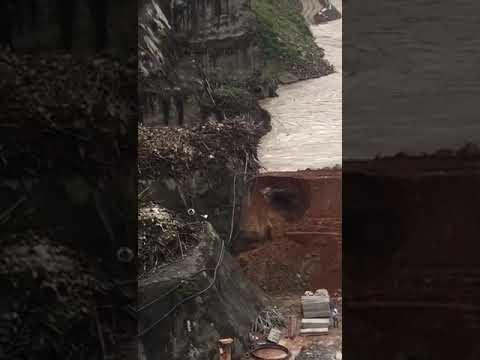 Ocurrió en la hidroelectrica Ituango : Impresionante la fuerza del río Cauca