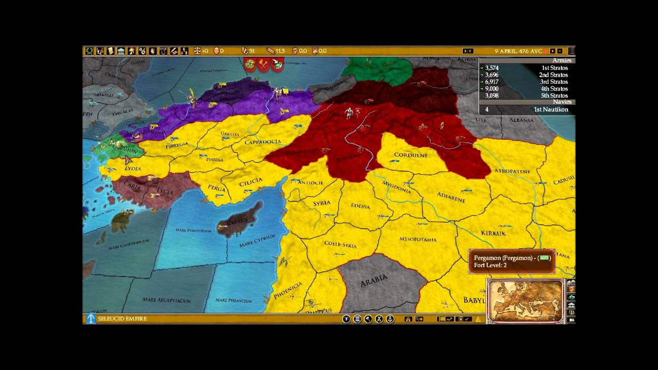 Lets Fail At Playing The Seleucid Empire In EURome YouTube - Eu rome map