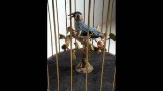Brass wind-up Bird Cage listed on eBay