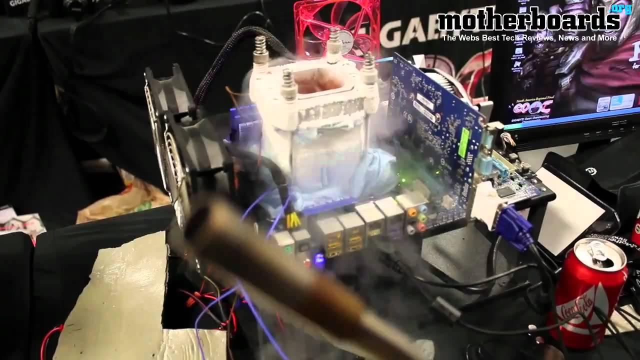 Gigabyte Overclocking Championship 2010 Liquid Nitrogen