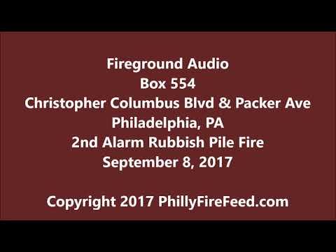 9-8-17, Columbus & Packer, Philadelphia, PA, 2 Alarm Rubbish Fire