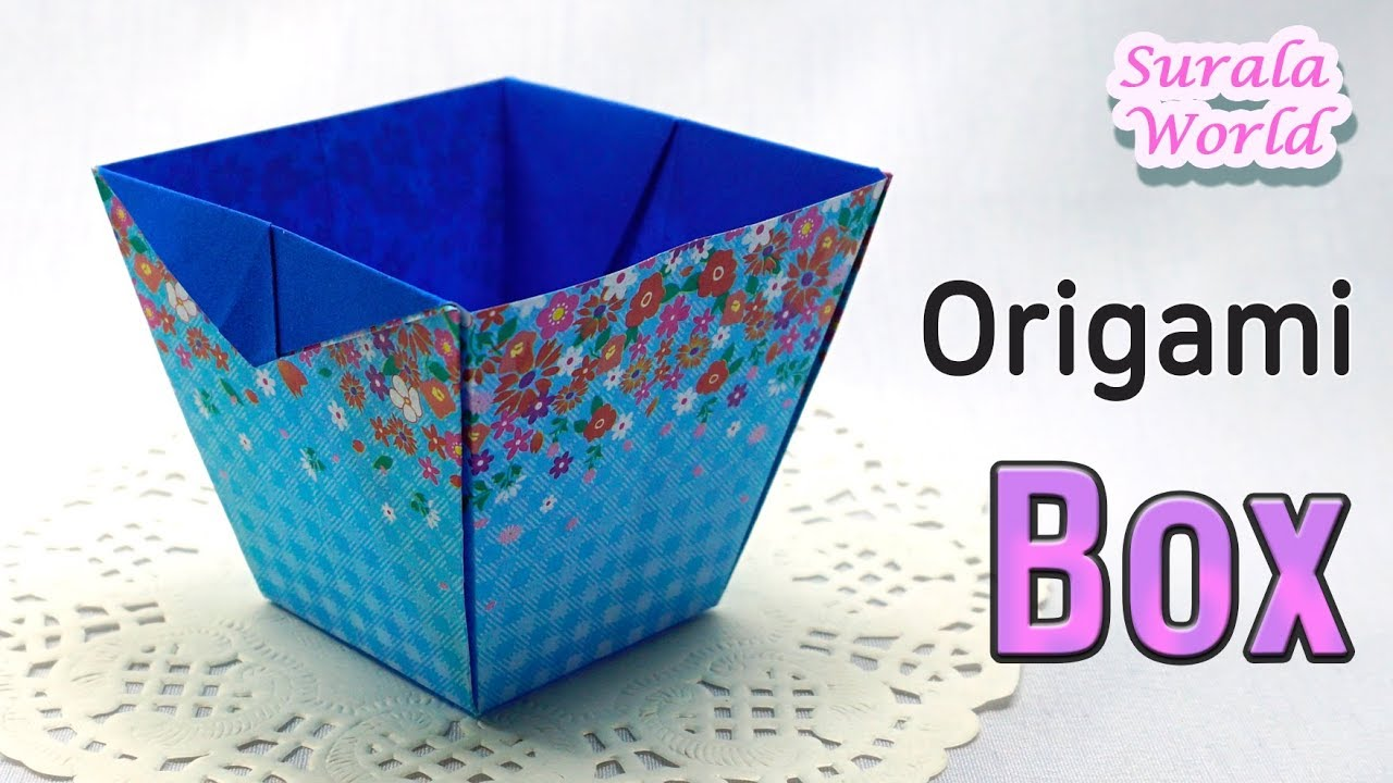Easy Origami Box - YouTube | 720x1280