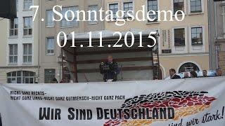 Wir sind Deutschland Kundgebung Plauen vom 01.11.2015 | 7. Sonntagsdemo