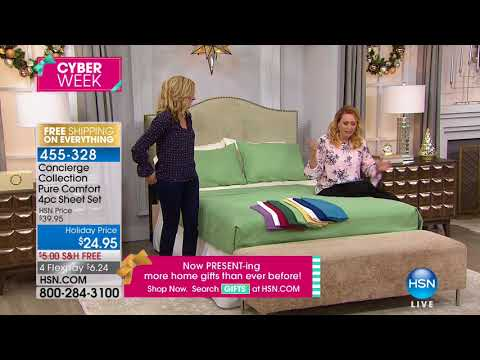 HSN | Concierge Collection Bedding 11.28.2017 - 09 PM