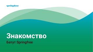 Знакомьтесь - беспружинный безопасный батут Спрингфри с защитной сеткой. Прыгать на батуте здОрово!(, 2016-04-11T08:36:39.000Z)