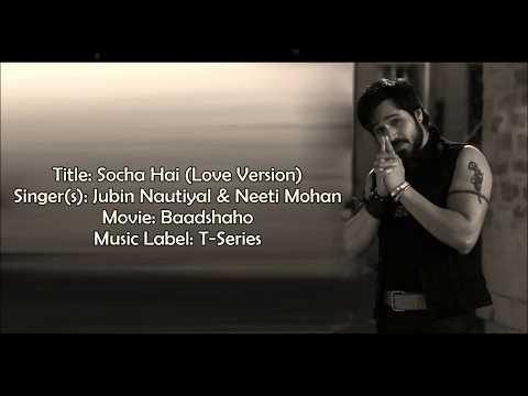Socha hai (badshao) | with lyrics