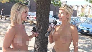 Çırılçıplak haber sunup, röportaj yapıyorlar!
