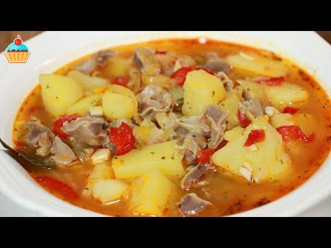 Суп с куриных желудков