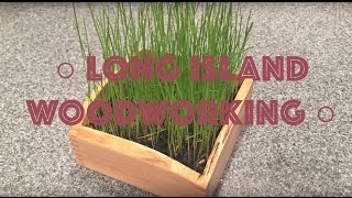 How To Make A Desk Planter, Small Wood Working Project-02