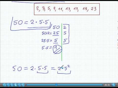 Rozkład Liczby Na Czynniki Pierwsze Matematyka Szkoła