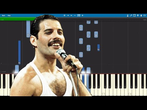 Queen - It's A Hard Life Piano Parts ONLY - Tutorial