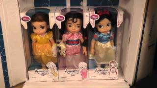 Обзор посылки с куклами-аниматорами диснея Belle, Mulan, Snow White!