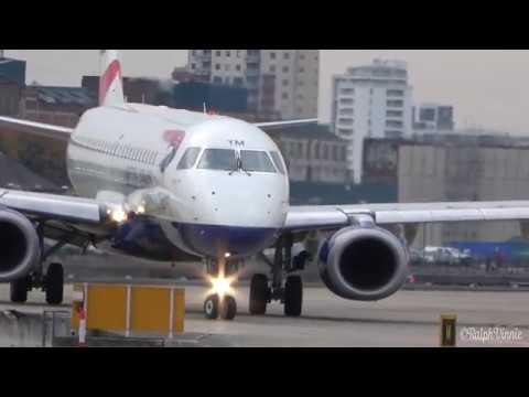 London City Airport Plane Spotting - Steep Takeoffs and Landings