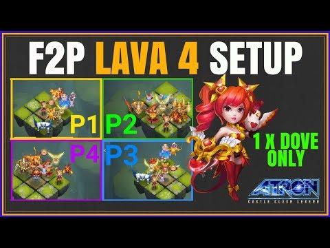 MAIN F2P LAVA ISLE 4 SETUP - NO ARTICA NO SASQUATCH - CASTLE CLASH