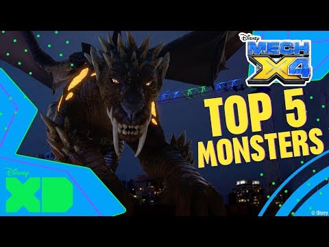 Mech-X4 | Top 5 Monsters | Official Disney XD Africa