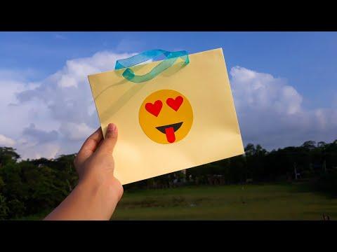 DIY Paper Bag || Easy Shopping Bag Tutorial with Emoji