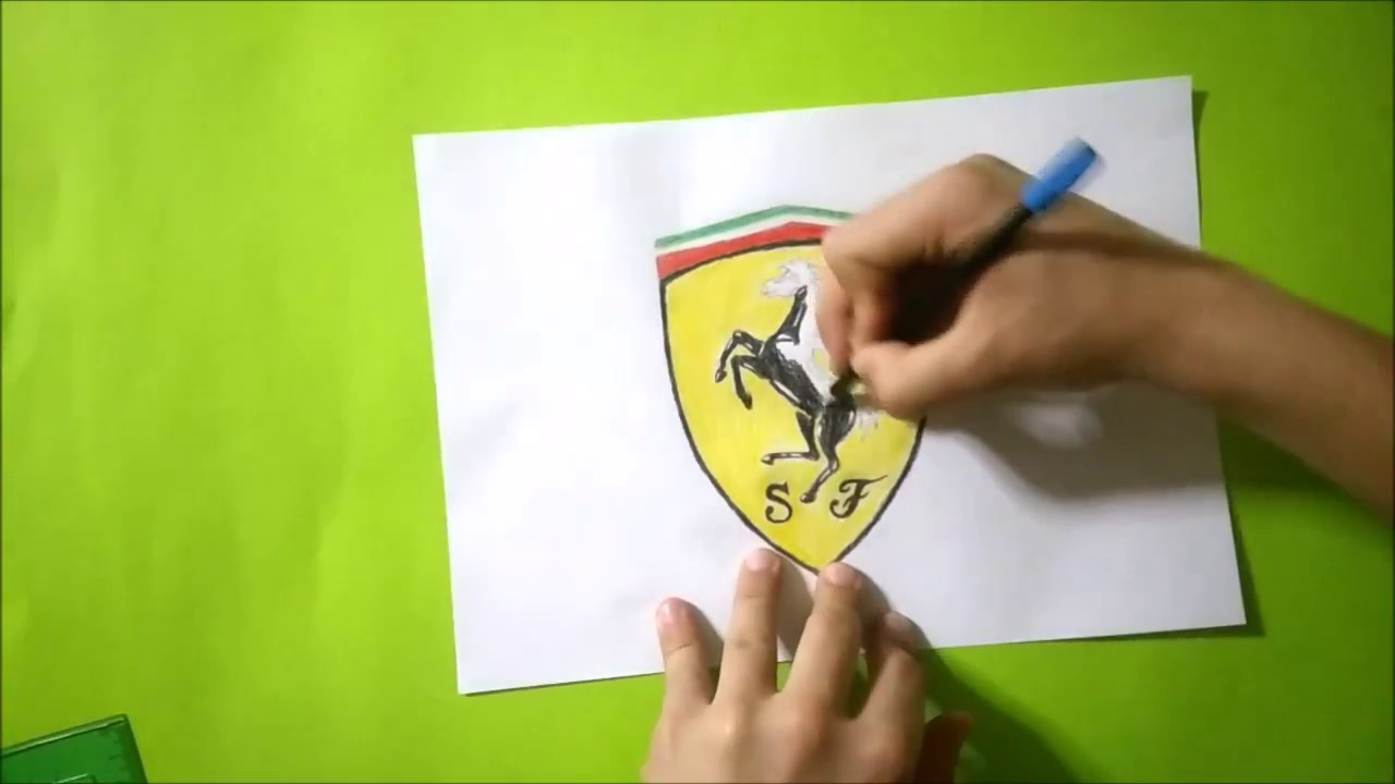 Ferrari Logo Cizimi Ferrari Logo Drawing Youtube