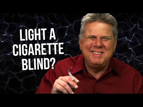 How Does A Blind Person Start Smoking & Light A Cigarette?